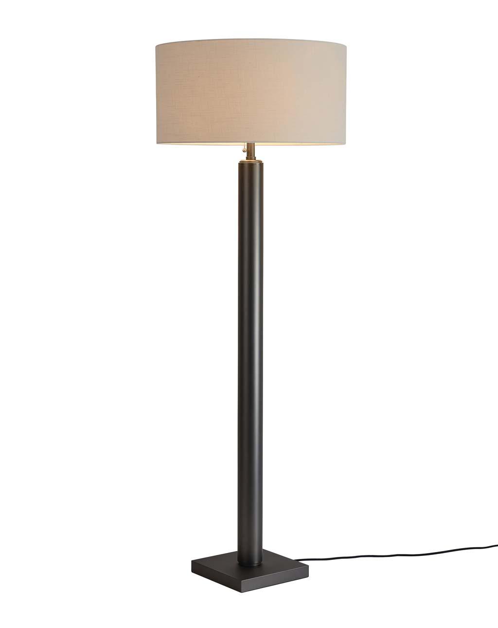 Brentwood Metal Column Floor Lamp, Gunmetal