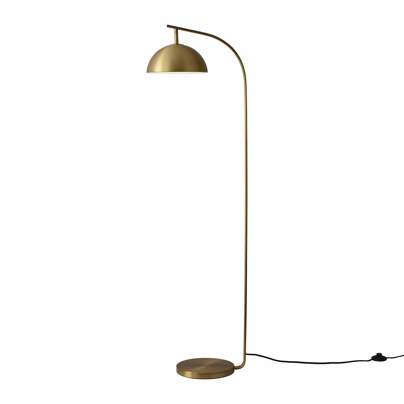 Domus Arc Lamp, Brushed Brass