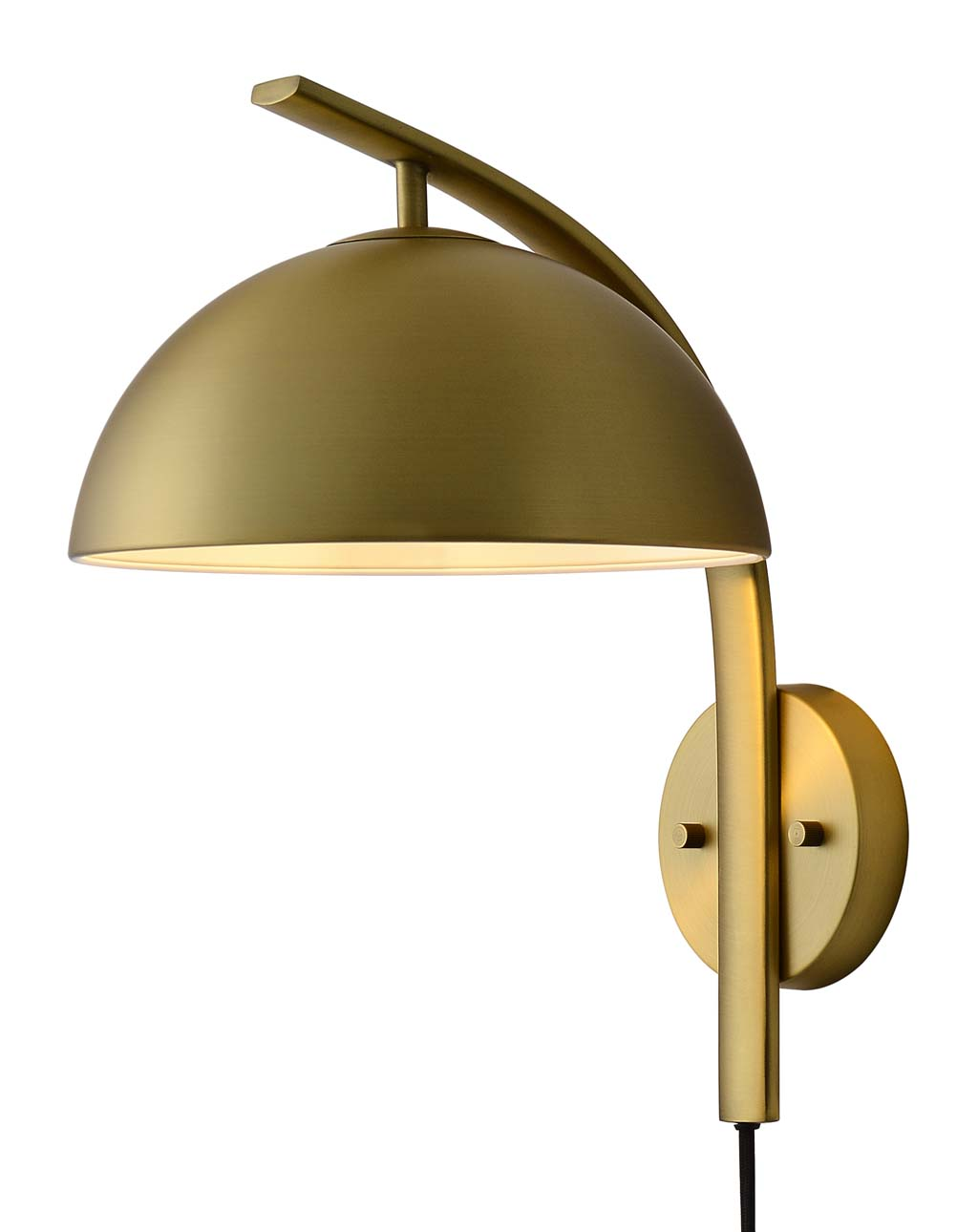 Domus Wall Sconce, Brushed Brass